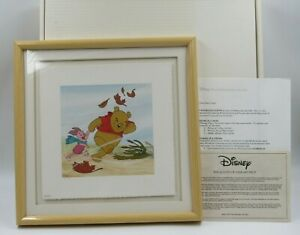 """Disney Art Classics Winnie the Pooh """"Blustery Day"""" Limited Serigraph - READ"""