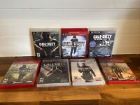 PS3 Playstation 3 Call Of Duty World At War Black Ops Modern Warfare 7 Game Lot