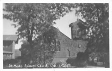 F18/ Upland California Postcard RPPC c1940s St Marks Episcopal Church
