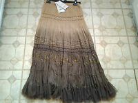 Phool 8 tiered broomstick skirt fully elasticated waist fully lined crincled S16