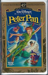 PETER PAN 45th ANNIVERSARY LIMITED EDITION VHS STILL SEALED ORIGINAL PACKAGING
