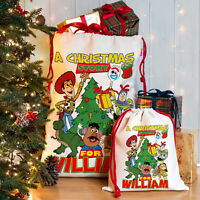 Toy Christmas Story Sack Santa Xmas Present Stocking Personalised Gift Bag NS028