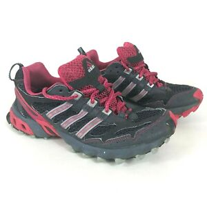 Adidas Kanadia TR Womens 8 Trail Running Shoes Black Low Top Lace Up