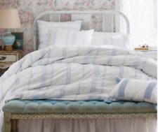 Simply Shabby Chic Blue Embroidered Bohemian Duvet Cover Set 3 pc   Full / Queen