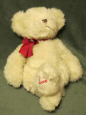 "12"" Russ Teddy Bear Haley w/ ""Love"" on Foot Plush Stuffed Animal Toy #20430"