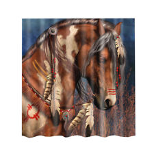 COOL Horse Home Decorative Shower Curtains Waterproof Mildew Resistant