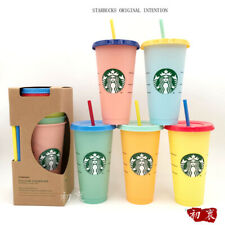 5pcs Starbucks 2021 New Year Ins Colours Straw Cup Tumbler 24oz High Capacity