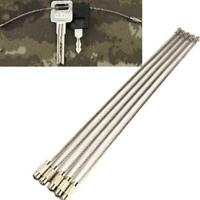 5PCS 5pcs Stainless Steel Wire Rope Keychain Key Ring Cable Outdoor Hiking Sport