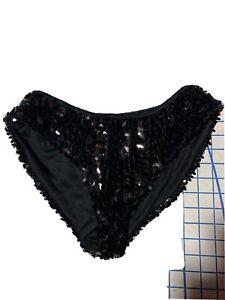 Panties Bikini XL Frederick/'s of Hollywood Black Extra Large