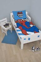 Spiderman Ultimate 'Hang' Panel Junior Cot Bed Duvet Quilt Cover Set Brand New