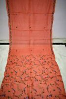 Vintage Indian 100% Pure Tussar Silk Sari Embroidered Border Decor Saree Decor