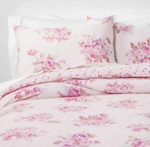TWIN Simply Shabby Chic Rachel Ashwell - BLUSH BOUQUET Rose Lilac Pink Duvet Set