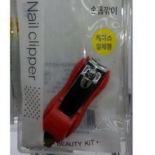 Mini Nail Clipper wt Bead Chain Catcher & File Nnslip Manicure Pedi RD MI Korea