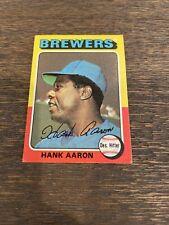 New listing 1975 Topps Hank Aaron #660. Nice Card