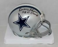 Duane Thomas Signed Dallas Cowboys Mini Helmet W/ SB Champs- Jersey Source Auth