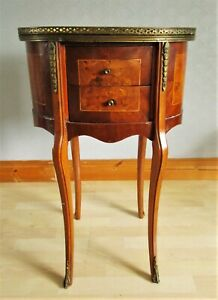 Vintage French Antique Style Wine Table  Side Table with Twin Drawers