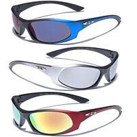 Kids Sunglasses Boys Sports Wrap Baseball Cycling Glasses Mirror Lens Age 3-10