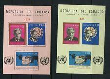 R223 Ecuador 1966 Churchill Jfk Schweitzer Hammarskjold Perf & Imperf sheets Mnh