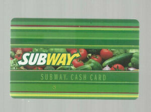 SUBWAY COLLECTABLE GIFT CARD VEGGIES