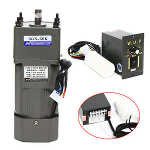 110V 90W AC Gear Motor Electric Motor Variable Reducer Speed Controller 1:50 US