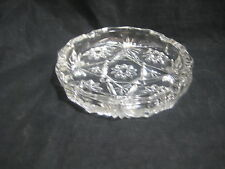 Vintage Lead Crystal Flower and Leaf Pattern Ashtray