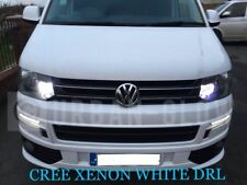 VW TRANSPORTER CADDY LED XENON BRILLIANT WHITE DRL DAYTIME RUNNING LIGHT BULBS