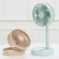 AU_ BE_ KE_ Summer Desktop Mini USB Cooling Fan Folding Telescopic Home Office A