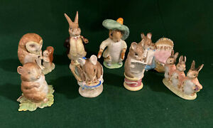 Beatrix Potter Beswick Characters - Lot of 8 Vintage Figurines