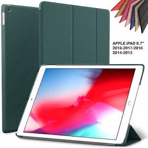 """Leather Case For Apple iPad 9.7"""" 5th/6th (Gen) Air 1/2 Smart Flip Stand Cover UK"""
