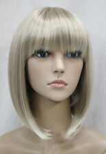 Excellent BOB Light Blonde Mixed Short Straight Women Ladies Daily wig FTLD064