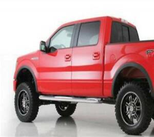 """Smittybilt 2009-2014 Fits Ford F-150 Super Crew Sure Steps 3"""" Side Bar Gloss"""
