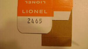 Lionel Licensed 2465 Two Dome Tank Car Window Box