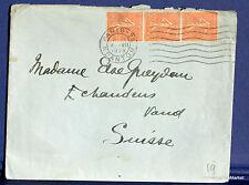 FRANCE SEMEUSE Yt 199 sur lettre  SUISSE- 1928 FA74