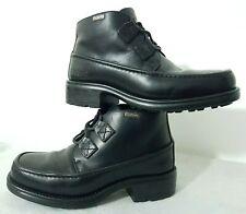 VINTAGE KICKERS Womens Leather Boots Heeled Black Size UK 6.5/EU 40