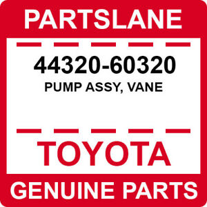 44320-60320 Toyota OEM Genuine PUMP ASSY, VANE