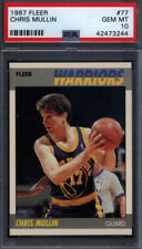 1987 Fleer #77 Chris Mullin Warriors PSA 10 *692458