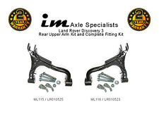 Land Rover Discovery 3 Rear Upper Right + Left Suspension Arms + Fitting Kits