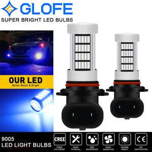 GLOFE Super Bright HB3 9005 LED Fog Light Bulbs Blue 92SMD High Power Projector