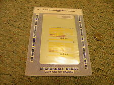 Microscale decals N 60-4249 Vermont Northern hood locomotives 1996+  D38
