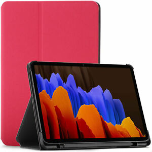 Samsung Galaxy Tab S7 Plus 12.4 Case Cover, Sleep Wake + Stylus Screen Protector