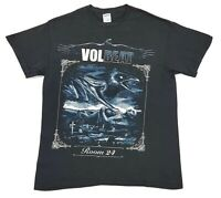 Volbeat Room 24 2014 US Tour Tee Black Size L Mens T Shirt Concert Rock