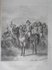 Gravure print  Charles X passant en revue les troupes juin 1825 bourbon france