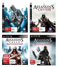 PS3 Assassins Creed 1, 2, Brotherhood, Revelation USED 4 Game Pack
