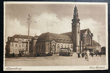 1932 Luxembourg RPPC Real Picture postcard Cover To PAris France Central Station