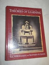 An Introduction to Theories Of Learning by B.R. Hergenhahn and Matthew H. Olson