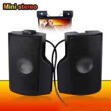 Qu_ Gx- Dv_ Portable Usb Clip-on Stereo Speaker Soundbar for Notebook Laptop Pho