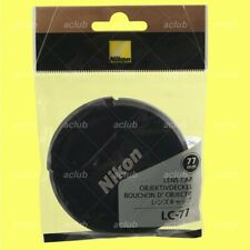 Genuine Nikon LC-77 Front Lens Cap 77mm Snap-On Lens Dust Cover Protector