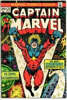 CAPTAIN MARVEL #29  Marvel1973  feat Controller VF+ 8.5