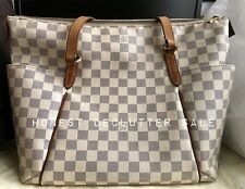 SOLD! Louis Vuitton LV Bag Monogram Totally MM Damier Azur Authentic Tote
