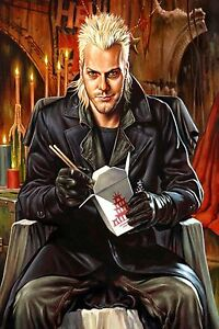 """THE LOST BOYS, KIEFER SUTHERLAND, VAMPIRE POSTER SATIN CANVAS PICTURE 20"""" X 30"""""""